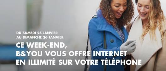 """Bouygues Telecom et B&You: Surf """"No limit"""" ce Weekend en 4G ou H+ ou 3G   10139710"""