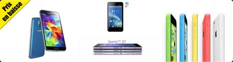 Baisse de prix sur les derniers smartphones 4G avec forfait 13998110