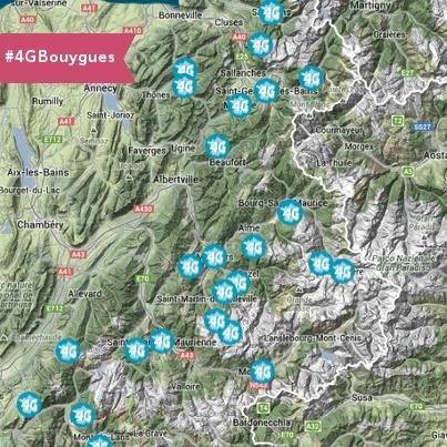 Mise à jour de la carte des stations de ski en 4G par Bouygues Telecom 14793510