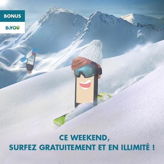 B&You: Week-End illimité en surf en 4G/H+ ou 3G sur votre Smartphone 15038611