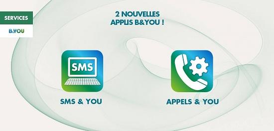 B&YOU propose deux nouveaux services sous Android:  SMS&YOU et Appels&YOU 15375211
