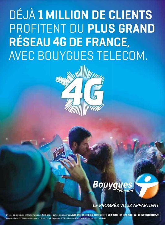 1 million de clients 4G sur le réseau Bouygues Telecom fin 2013 1m10