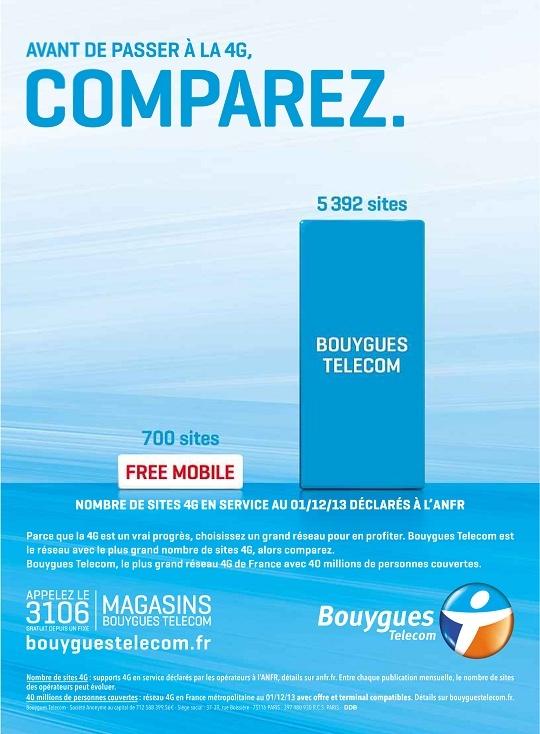 Nouvelle pub comparative du réseau 4G par Bouygues Telecom 2013-112