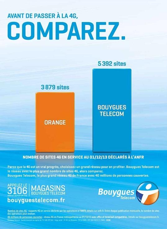 Nouvelle pub comparative du réseau 4G par Bouygues Telecom 2013-113