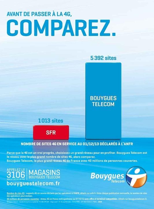 Nouvelle pub comparative du réseau 4G par Bouygues Telecom 2013-114