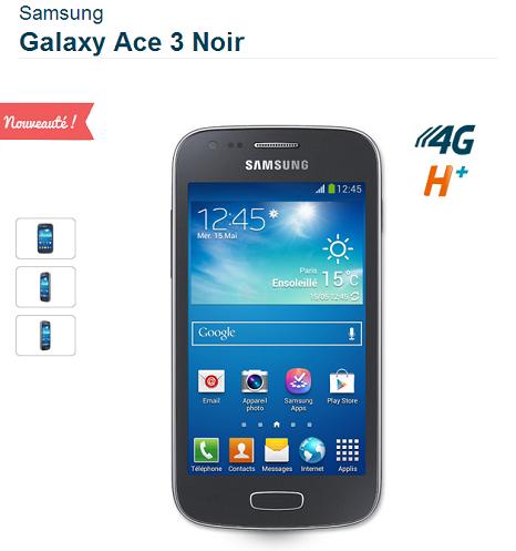 Samsung Glaxy ACE 3 est disponible chez Bouygues telecom Ace311