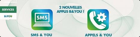 B&YOU propose deux nouveaux services sous Android:  SMS&YOU et Appels&YOU Ban2ap10