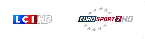 LCI & Eurosport 2 passe en HD sur le réseau câble via Bouygues Telecom Banhd10