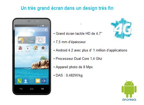 Ultym 4: le 1er Smartphone 4G à bas coût par Bouygues Telecom  Bs472111