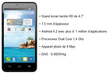 Bs 472, le premier Smartphone 4G Bouygues Telecom. Bs47212