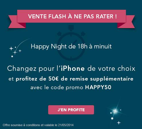 Vente flash sur l'iPhone de votre choix en renouvellement jusqu'à minuit Hp5010