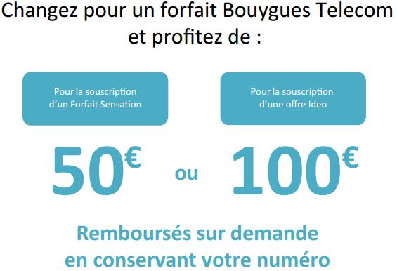 Profitez aussi de 50€ ou 100€ de remboursement vers Sensation 4G Eco. Illuso10