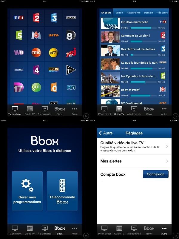 B.TV pour  mobiles et tablettes sous iOS 6.0 et supérieur est disponible. Ipad10