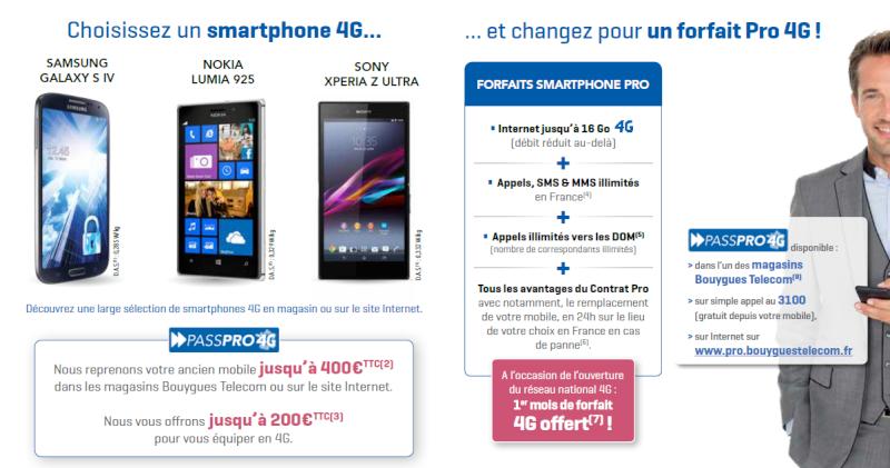 PASSPRO 4G: Jusqu'à 600€ de remise et un mois de Forfait 4G. Passpr10
