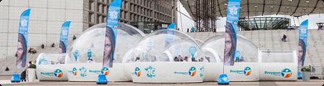 La 4G en démo dans les bulles de Bouygues Telecom à la Défense et Bordeaux Pinter10