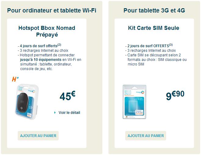 Nouveauté : Bbox Nomad prépayée c'est jusqu'à 6Go d'usage compatible 4G Prepai10