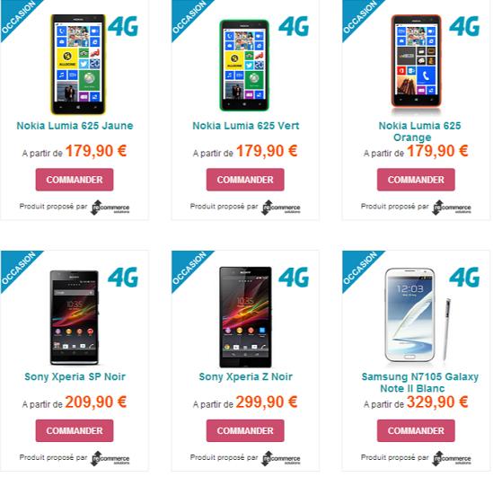 La boutique de mobiles d'occasion s'enrichit de smartphones 4G Reco110