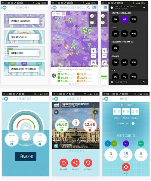 Sensorly passe en version 3.1 sur Android. Speedt10