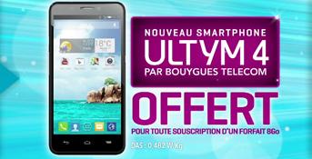 Ultym 4 le Smartphone 4G est offert avec un forfait Sensation 8Go  Ultym11