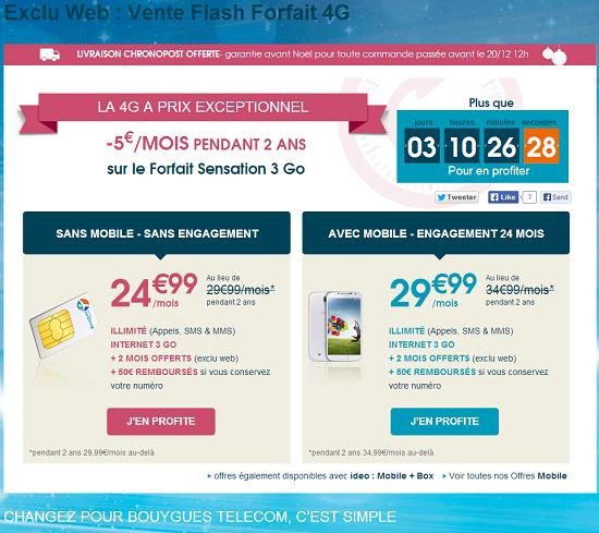 [MAJ]Vente flash offre forfait 4G: -5€  sur Sensation 3Go pendant 24 mois Vente_11