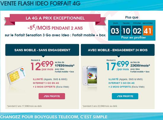 [MAJ]Vente flash offre forfait 4G: -5€  sur Sensation 3Go pendant 24 mois Vente_12
