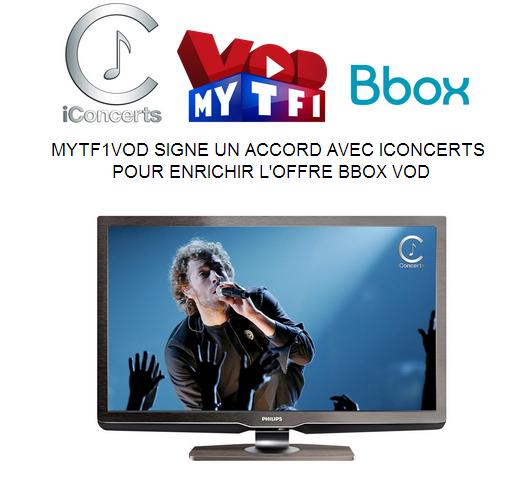 iConcert disponible en exclusivité sur l'offre Bbox VOD Vod210