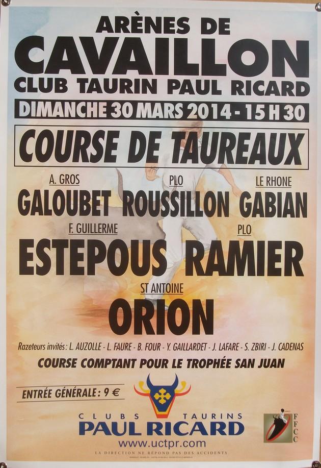 Cavaillon Club Taurin Paul Ricard Affich10