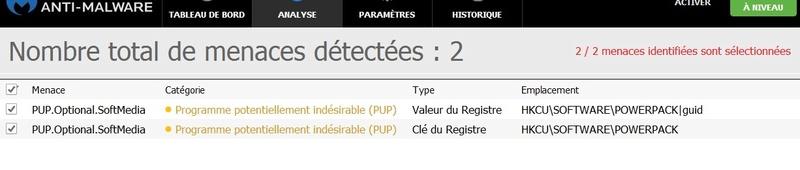 Indésirables détectés Powerp10