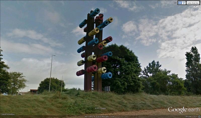 Les oeuvres d'art sur les aires de repos d'autoroutes. - Page 2 Halter10