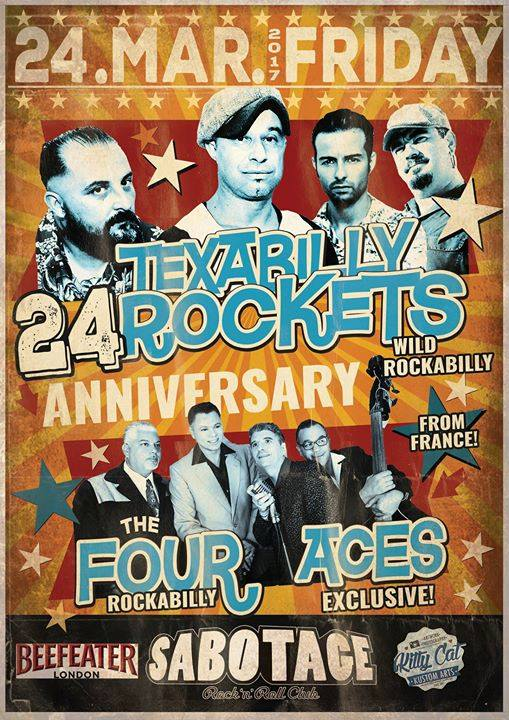 24/03/2017 Texabilly Rockets & The Four aces on stage (Portugal) 17021410