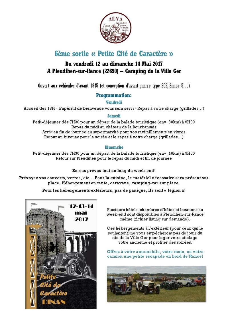 6ème Petite Cité de Caractère - 12 au 14 Mai 2017. Inscri11