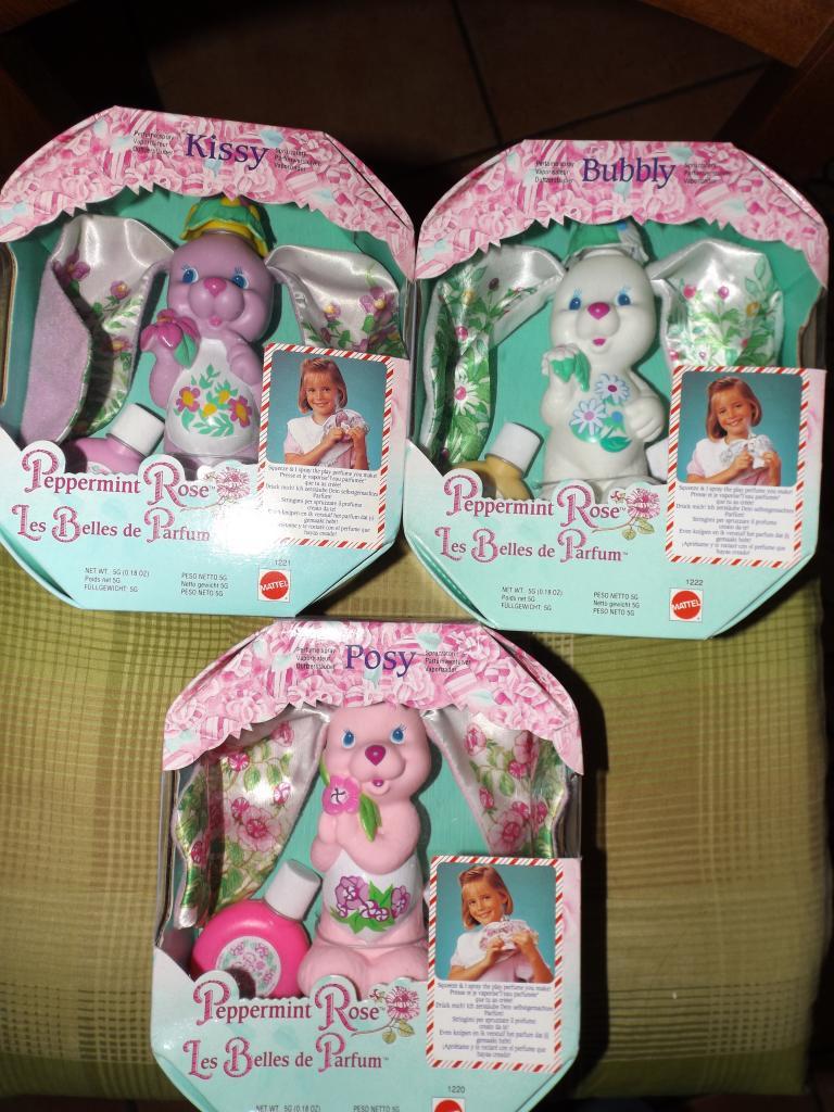 peppermint rose doll  Peppermint Posy, Bubblegum Daisy, Lemon Kiss misb mattel Immagi43
