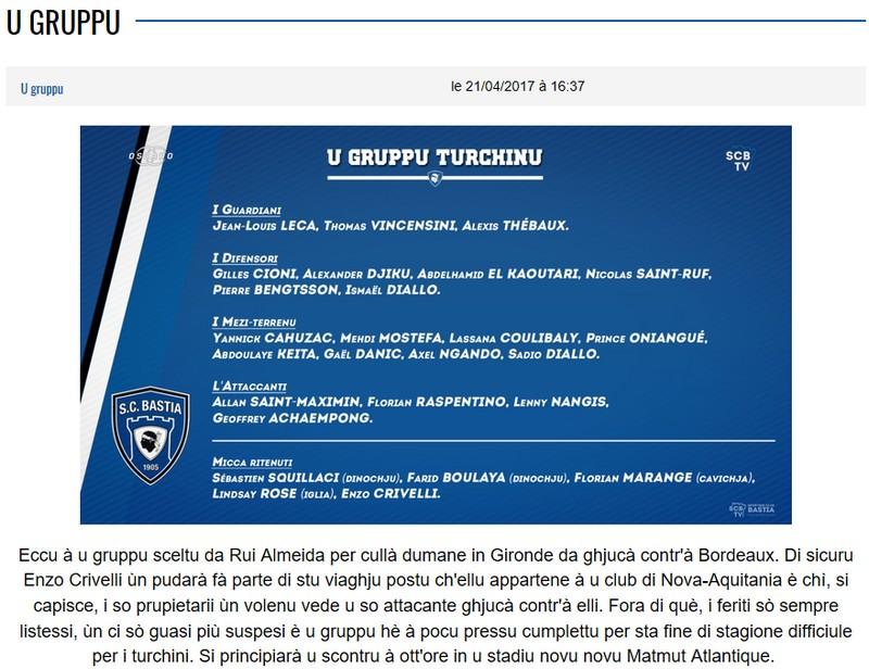J34 / Jeu des pronos - Prono Bordeaux-Bastia S25