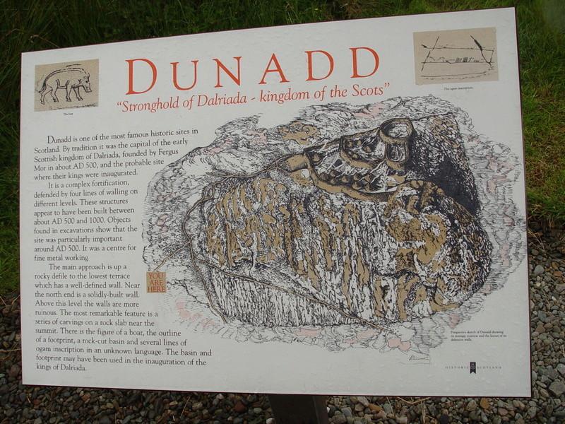 La construction du fort Picte  Dunadd10