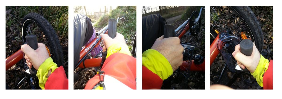 Protège main contre le vent et le froid pour vélo Tempo310