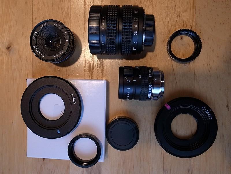 [Vendu] Objectifs CCTV lens + adpatateurs R1001010