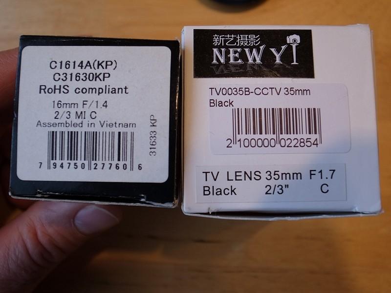 [Vendu] Objectifs CCTV lens + adpatateurs R1001012