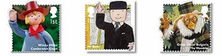 Des personnages célèbres de la télé jeunesse anglaise en timbres Stamps10