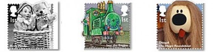 Des personnages célèbres de la télé jeunesse anglaise en timbres Stamps13