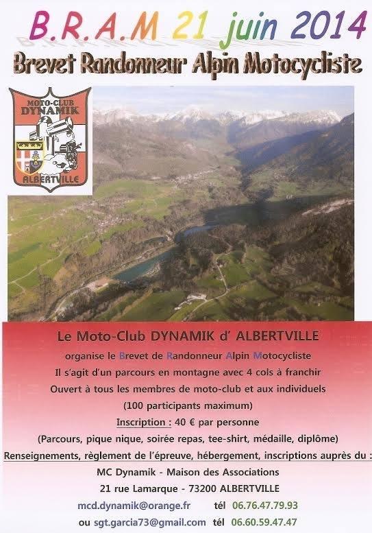 140621 B.R.A.M Brevet Randonneur Alpin Motocycliste ... Albertville (73) 19650510