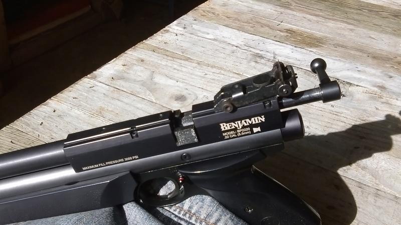 Marauder pistol préparé silhouette métallique  A10
