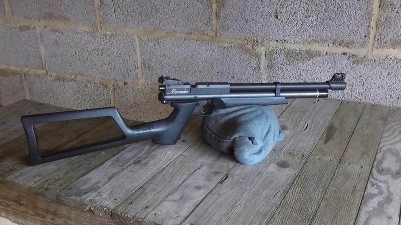 Marauder pistol préparé silhouette métallique  A211