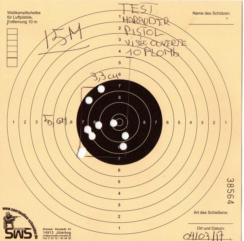 Marauder pistol préparé silhouette métallique  A510