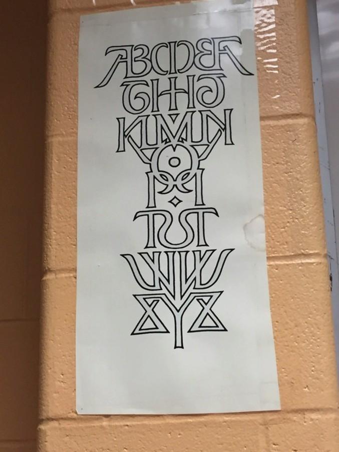 un alphabet symétrique 0110