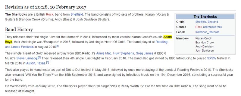 Mal placé à un concert, il s'invente cousin du chanteur sur Wikipédia et finit en zone VIP 448f4910