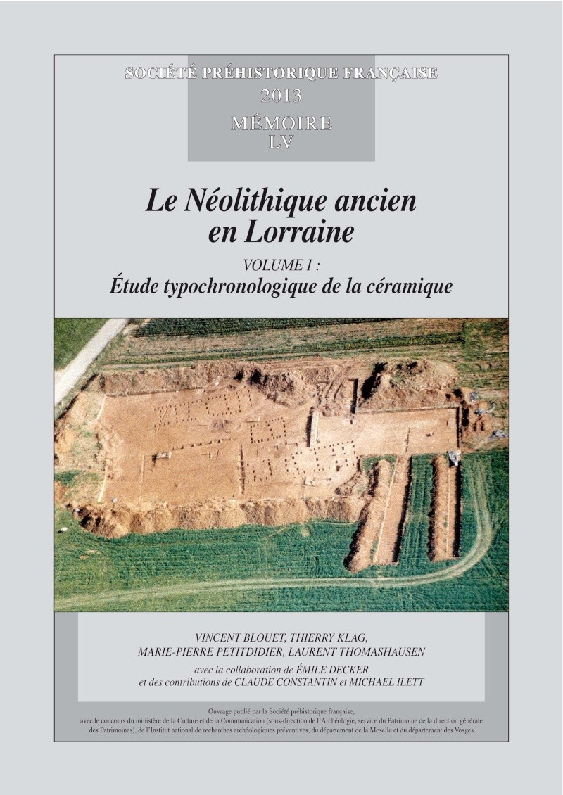 """Actualité bibliographique : """"Le Néolithique ancien en Lorraine"""" Couver10"""