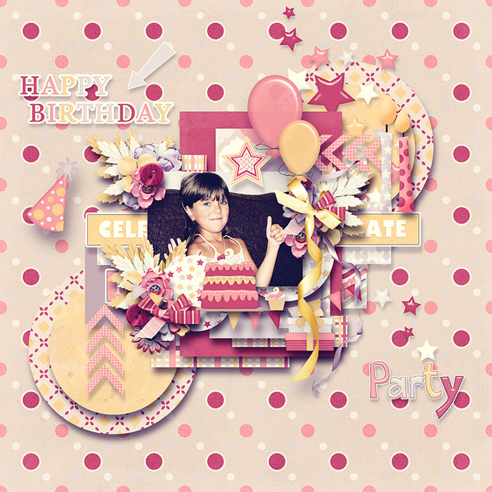 A girl's birthday kit and templates and Welcome to my world templates - May 2. iNSD Tinci_51