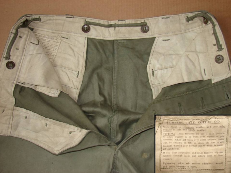 Trousers, field, OD - pantalon M43 Diapos30