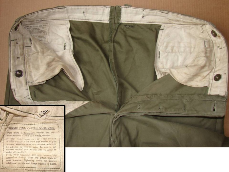 Trousers, field, OD - pantalon M43 Diapos32