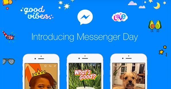 Facebook lancia Messenger Day, all'interno dell'app Scherm27